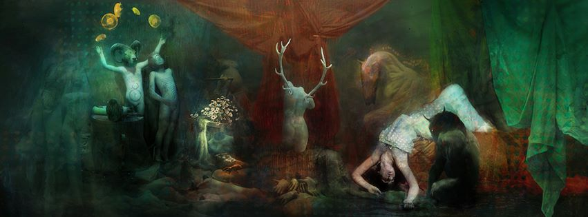 The complete wrap-around cover art by Samuel Araya for Jason V. Brock's A Darke Phantastique anthology. Click to enlarge.
