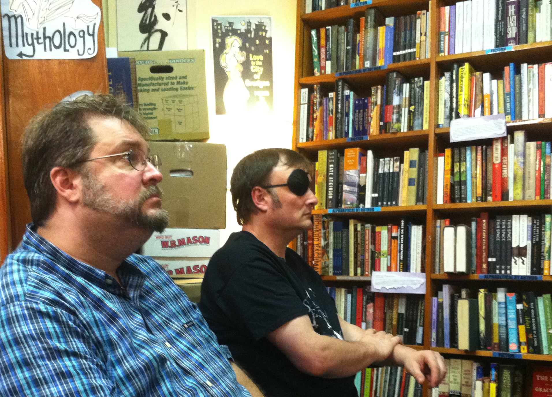 Shveta captured the evidence that horror writer John Langan came out to my reading too. No pressure there, nope.