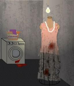 """Illustration for """"The Vintage Dress"""" by Elena Hernandez"""